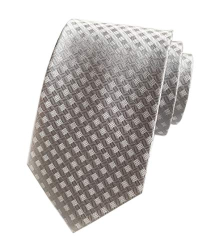 Men Squared Patterned Neckties Silk For Mens Suit Fitness Grey Fashion Prom Ties