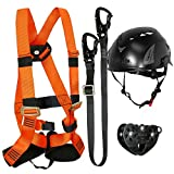 Fusion Climb Tactical Edition Kids Commercial Zip Line Kit Harness/Lanyard/Trolley/Helmet Bundle FTK-K-HLTH-07