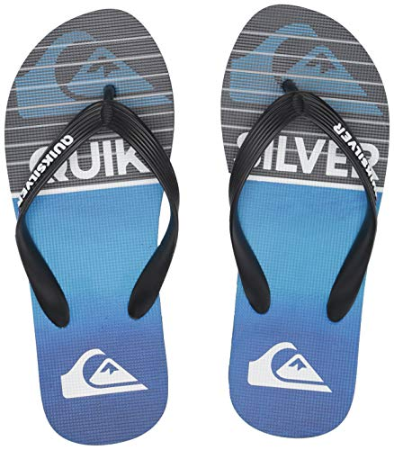 Quiksilver Men's Molokai Highline Slab Sandal, Black/Blue, 12(45) M US