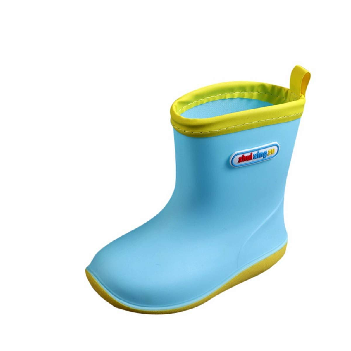 Waterproof Child Solid Rubber Infant Rain Anti-Slip Shoes Kids Rain Shoes Baby Splice Boots by FAPIZI