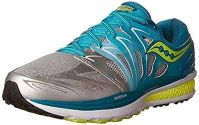 Saucony Women's Hurricane ISO 2 Running Shoe, Blue/Silver/Citron, 5 M US