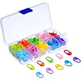 120 Pieces Knitting Crochet Locking Stitch Markers Stitch Needle Clip, 10 Colors