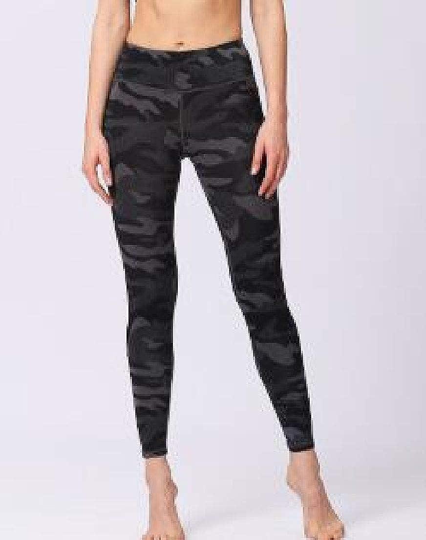 Spirio Womens High Rise Stretchy Camo Print Fitness Workout Yoga Legging Pants
