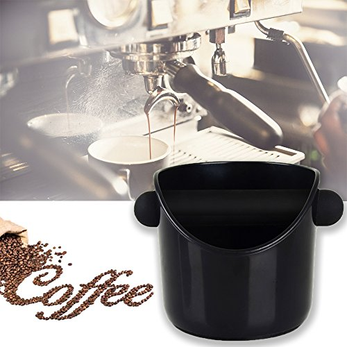 Coffee Knock Box, Large capacity Barista Knock Box Coffee Grind Knock Box for Espresso Grind Waste Bin (Black) by Spirit