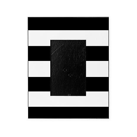 Amazon.com: CafePress - Modern Black White Stripes - Decorative 8x10 ...