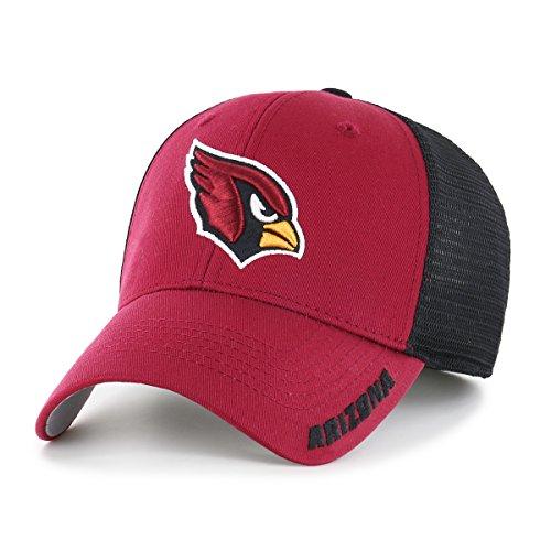 NFL Arizona Cardinals Adult Hursh Ots Center Stretch Fit Hat, Large/X-Large, Dark Red