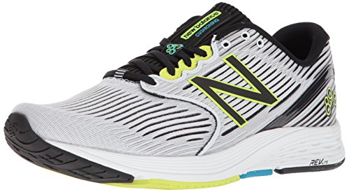 New Balance Men's 890v6 Running Shoe, White/Black, 10.5 D US