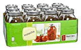 Ball Regular Mouth Pint Jars with Lids and Bands- Set of 12 (by Jarden Home Brands)