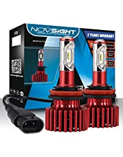 H7 LED Headlight CREE Bulbs Conversion Kits, NOVSIGHT Super Bright 10000LM(5000lm*2) 6500K Cool White CSP LED Chips, 2 Year Warranty