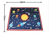 LELVA Designer Solar System Living Room Rugs Unique Stars Kids Bedroom Rug Modern Cartoon Planet Children Carpet