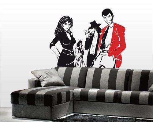 Adesivi Creativi adesivo sticker murale Gruppo Lupin Dimensioni 110 X 92 cm   wall stickers   adesivi da parete   Decorazione murale   decalcomania