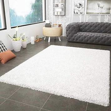 prime shaggy teppich weiss creme hochflor langflor teppiche modern fur wohnzimmer schlafzimmer 60x100 cm