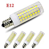[4-Pack] E12 Led Bulb Candelabra Light Bulbs 8W, 100W (850LM) Equivalent Ceiling Fan Bulbs, Daylight 6000K, LED Chandelier Light Bulbs, LED Candle Bulbs (Base E12) Home Light Fixtures Decorative.