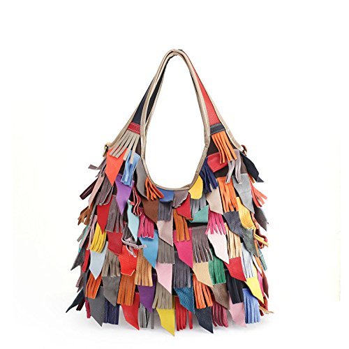 Cowhide Lady Bags One Genuine Bag A Leather Crossbody Stitching Lady Tassel Bags Shoulder JPFCAK dwq4YxfHH
