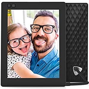 Nixplay Seed 8 Inch WiFi Cloud Digital Photo Frame with IPS Display, iPhone & Android App, Free 10GB Online Storage, Alexa Integration and Hu-Motion Sensor - Black (W08D)