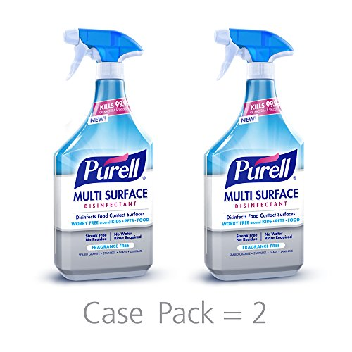 PURELL Multi Surface Disinfectant Spray – Fragrance Free, Voted 2018 Product of The Year - 28 oz. Spray Bottle (Pack of 2) - (Purpose Cleaning Spray)
