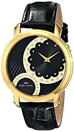 Carlo Watch Monte Leather (Carlo Monti Women's CM802-222 Analog Display Quartz Black Watch)