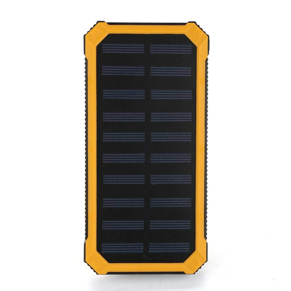 Solar Charger Power Bank Portable 20000mAh Solar Phone Charger Camping Travelling Emergency Power Bank with 6 Pcs LED Light and Dual USB Port(Green) Zerodis