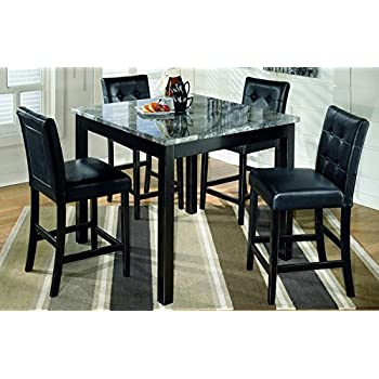 ashley furniture signature design maysville counter height dining room set 1 table and 4