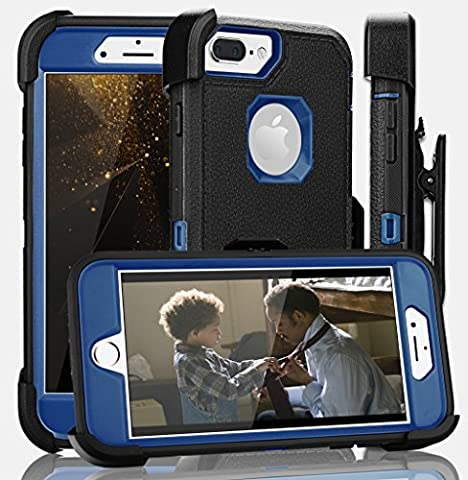 iPhone 8 Plus Case,iPhone 7 Plus Case,iPhone 6s Plus Case,FOGEEK[Dust-Proof]Belt-Clip Heavy Duty Kickstand Cover[Shockproof]Rugged Armor PC+TPU for Apple iPhone 7 Plus,iPhone 6/6s Plus(Black and (Iphone 6 Case Armor Rugged Black)