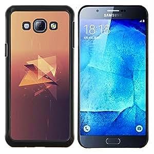 Qstar Arte & diseño plástico duro Fundas Cover Cubre Hard Case Cover para Samsung Galaxy A8 A8000 (Polígono Diamond)