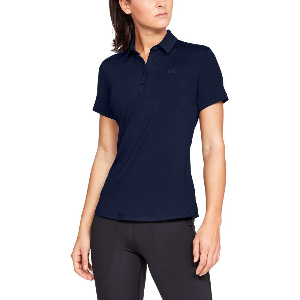 Under Armour Womens Zinger Short Sleeve Golf Polo, Academy (408)/Academy, X-Small