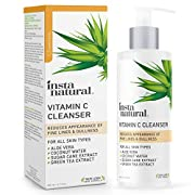 #LightningDeal InstaNatural Facial Cleanser - Vitamin C Face Wash - Breakout & Blemish & Wrinkle Reducing, Exfoliating Gel - Clear Pores on Oily, Dry & Sensitive Skin with Organic & Natural Ingredients - 6.7 oz