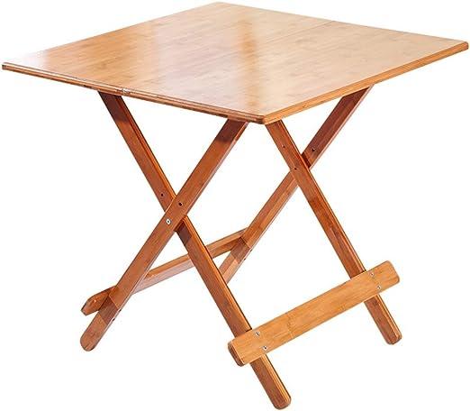 SISIZHANG Mesa Plegable de bambú Comer, Mesa de Comedor portátil ...