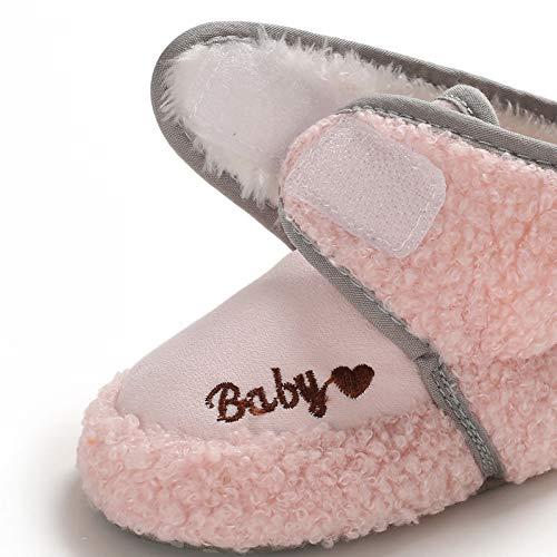 BEBARFER Newborn Baby Boys Girls Booties Stay On Slippers Socks Non-Skid Toddler Infant First Walker Crib Shoes