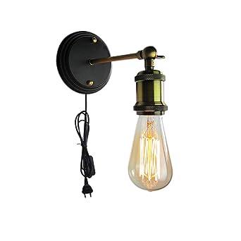 Addison Vintage Industrial Lámpara de pared para interiores ...
