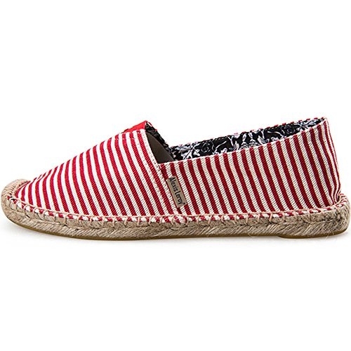 Alexis Leroy Striped Canvas Flat Espadrilles Women Red 30x3mlLG
