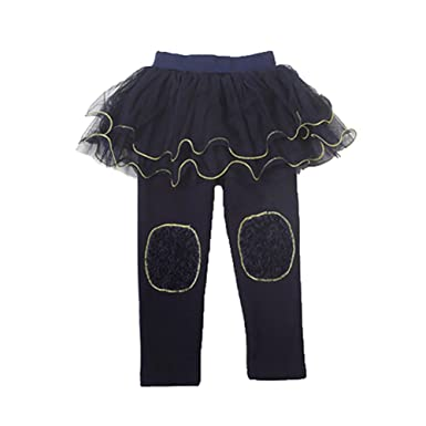 5635eb5d1 Amazon.com  Honghong Girls Leggings Pantskirt Tutu Skirt Warm Girls ...
