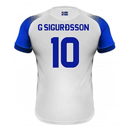 92a60ecab Image Unavailable. Image not available for. Color  2018-2019 Iceland Away  Errea Football Soccer T-Shirt Jersey (Gylfi Sigurdsson 10
