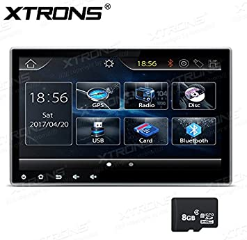 XTRONS® Doble 2 DIN Digital HD de 10,1 pantalla táctil estéreo de coche reproductor de DVD Radio GPS Bluetooth Kudos mapa tarjeta: Amazon.es: Electrónica