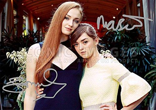 "Maisie Williams Sophie Turner Game of Thrones Cast Print Arya Stark Sansa Stark GOT (11.7"" X 8.3"")"
