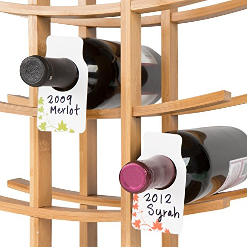 Reusable Wine Cellar Bottle Tags - By Trademark Innovations (Set of 50)