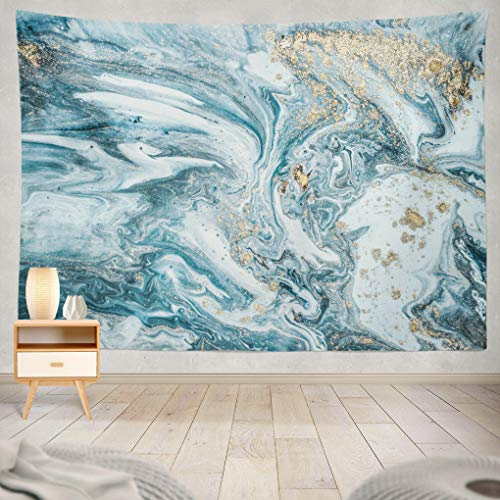 Summor Natural Luxury Ancient Oriental Marble Beautiful Oriental Art Marbling White and Art Nature Home Decorations for Living Room Bedroom Dorm Decor in 80