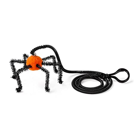 Pet Supplies for Cats Toys Ffpazig Creative Cat Bell Toy Style Halloween Interactive cat Toys with Elastic String for Kitten and Puppy Orange Spider