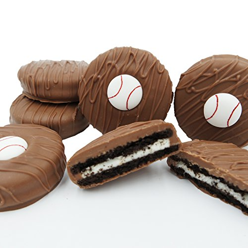 Philadelphia Candies Milk Chocolate Covered OREO Cookies, Baseball Gift Net Wt 8 oz