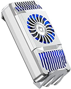 farawamu Phone Cooler, Portable Universal Mobile Phone Gaming Radiator USB Cooler Heat Sink Cooling Fan, Birthday Gift Silver