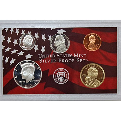2003 S US Mint Silver Partial Proof Set Gem Deep Cameo