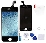 Coobetter iPhone 5s Screen Replacement LCD Display Touch Screen Digitizer with Free Tools Kit and 1 Glass Screen Protector (iPhone 5s Black)