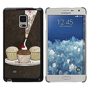 TopCaseStore / la caja del caucho duro de la cubierta de protección de la piel - Cute Cupcakes Pattern - Samsung Galaxy Mega 5.8 9150 9152