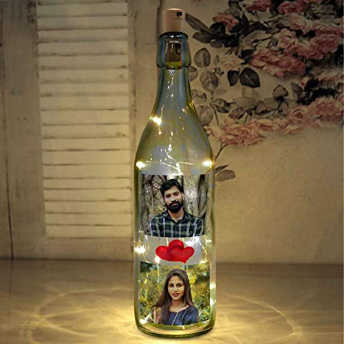 51X9FLIhdeL Presto Personalized Glass Bottle Lamp , Lights Romantic Photo Wife Birthday , Home Decor ( Multicolour)
