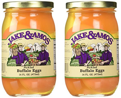 Jake & Amos - Pickled Buffalo Eggs / 2 - 16 Oz. Jars