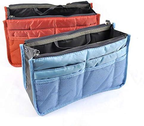 ハンドル付きトートバッグ財布ライナーを挿入オーガナイザーのための化粧品メイクアップキャンバスハンドバッグ主催、頑丈挿入オーガナイザーバッグ分周器の形状を、旅行