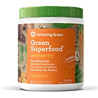 Amazing Grass Superfood Immunity Tangerine Organic Powder with Wheat Grass and Greens (30 Servings)