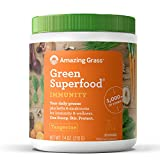 Amazing Grass Green Superfood Immunity Organic Powder with Wheat Grass and Greens, Flavor: Tangerine, 30 Servings