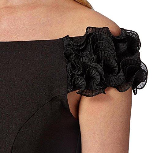 Wax Schwarz Cocktail Dress Black Lipsy Damen Kleid Knielang Bardot BgAq14qw