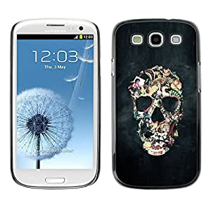 A-type Colorful Printed Hard Protective Back Case Cover Shell Skin for SAMSUNG Galaxy S3 III / i9300 / i747 ( Biker Black Smoke Life Skull Death )